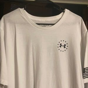 NWOT Under Armour Freedom 3x white tshirt